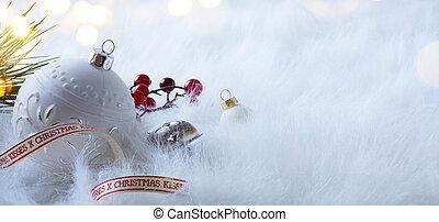 光, 樹, 假期, 裝飾, 背景, 白色, 聖誕節