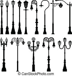光, 燈, 街道, lamppost, 郵寄