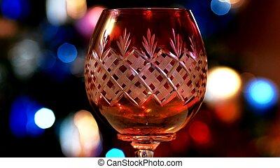 光, 玻璃, bokeh, 背景, 紅的酒