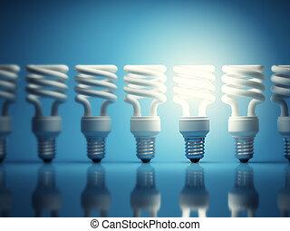 光, 發光, 一, 燈泡