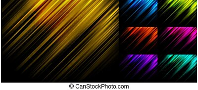 光, 線, 藍色, 背景, 黑色, 綠色, 集合, 紅色, 紫色, 黃色, 粉紅色, 條紋, 摘要, 斜紋織物