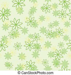 光, 花, 綠色, 圖案
