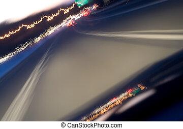 光, 道路, 形迹