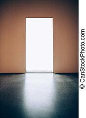 光, 門, 在, 暗室