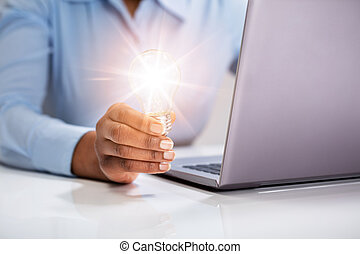 光, businessperson, 照明, 藏品, 燈泡
