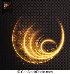 光, golen, 矢量, 魔術, 影響