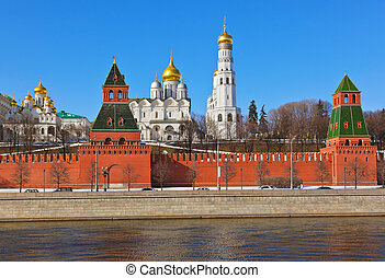 克里姆林宫, 在中, 莫斯科, (russia)