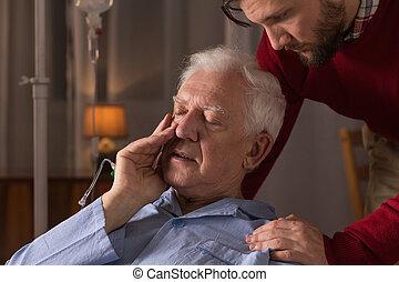兒子, 關心, 大約, 父親