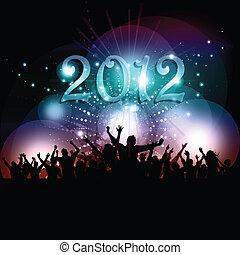 党 新年の, 群集