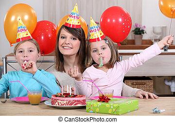 党, 生日, 孩子` s