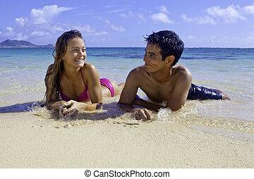 入り混ざったカップル, ハワイ