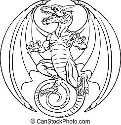 入れ墨, デザイン, ドラゴン