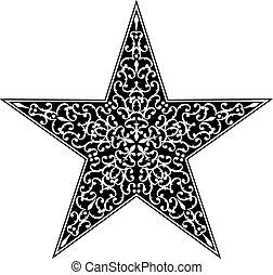 入れ墨, デザイン, 星