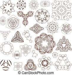 入れ墨, ベクトル, henna, 要素, いたずら書き