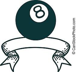 入れ墨, ボール, 8, 旗