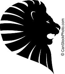 入れ墨, ライオン, 頭