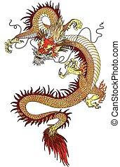 入れ墨, 中国のドラゴン