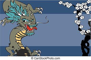 入れ墨, 日本語, background1, ドラゴン