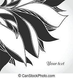 入れ墨, 白, pattern., 黒