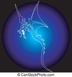 入れ墨, 部族の芸術, ドラゴン