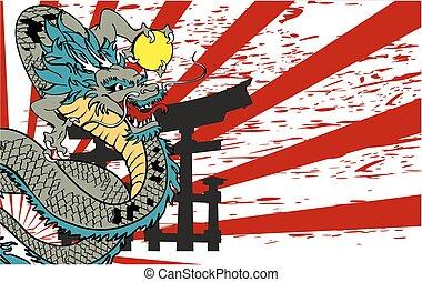 入れ墨, background5, 日本語, ドラゴン