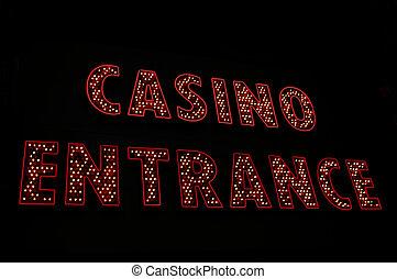 入口の 印, カジノ, ネオン, vegas, las