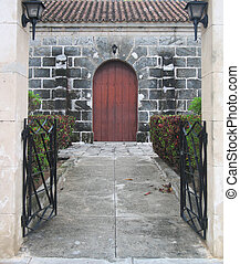 入口, の, a, 建物