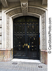 入口, ドア, の, ∥, 住宅の, 都市, 建物
