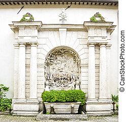入口, 中庭, 中に, 別荘, d, 'este, tivoli, イタリア