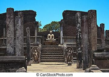 入口, 到, the, 老, vatadage, 從, 第12 世紀, 在, the, 國王, 宮殿, 在,...