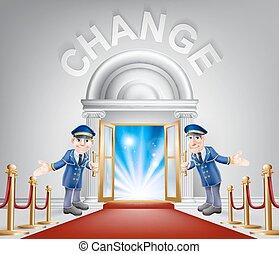 入口, 変化しなさい, 赤いカーペット