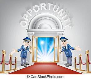 入口, 機会, 赤いカーペット