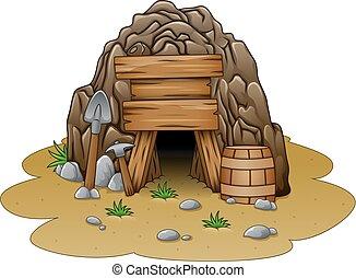 入口, 洞穴, 漫画
