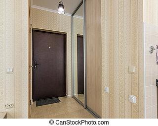 入口, 玄関, 内部, 入口, ドア, そして, ワードローブ