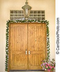 入口, 華やか, ドア, 形式的