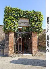 入口, pompeii, 別荘, 台無しにされる