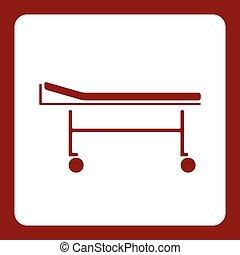 入手しやすい, 医学, 車椅子, アイコン, 要素, デザイン, 平ら