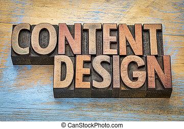 內容, 設計, 在, 木頭, 類型