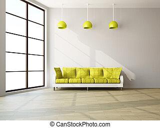 內部, 沙發, 房間