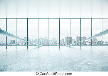 內部, 由于, 樓梯, 以及, 城市觀點
