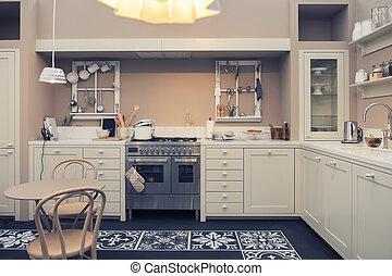 內部, ......的, 家廚房
