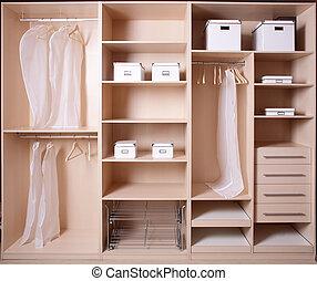 內部, 衣櫃, 木制, 好