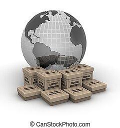全世界, 概念, 發貨