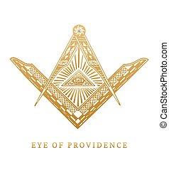 全参见, 眼睛, 在中, providence., masonic, 广场, 同时,, 指南针, symbols.,...