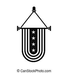 全国アイコン, 旗, アメリカ, 優勝旗