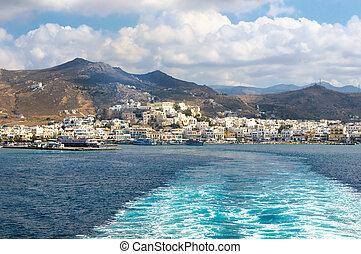 全景, ......的, naxos, cyclades, 希臘