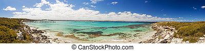 全景, ......的, vivonne, 海灣, 上, 袋鼠島, 南方澳大利亞
