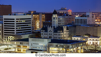全景,  Wichita, 夜晚