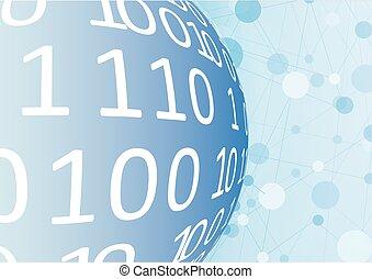 全球的网絡, 矢量, 插圖