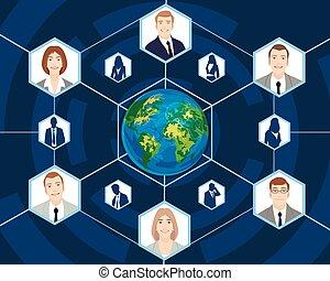 全球, 人们商业
